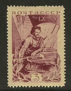 1935. 60-летие со дня рождения М.И. Калинина. М.И. Калинин у токарного станка [2] 1