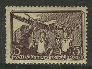 1938. Авиационный спорт. Пионеры с моделью самолета АНТ-6 [2] 1