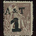 """1888. Аннам и Тонкин. Французские колонии, первые выпуски с надписью """"A&T"""", * [imp-7313] 2"""