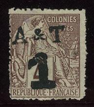 """1888. Аннам и Тонкин. Французские колонии, первые выпуски с надписью """"A&T"""", * [imp-7313] 12"""
