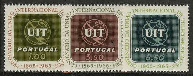 "1965. Португалия. Серия ""The 100th Anniversary of the ITU"", 3/3, ** [950-952] 1"