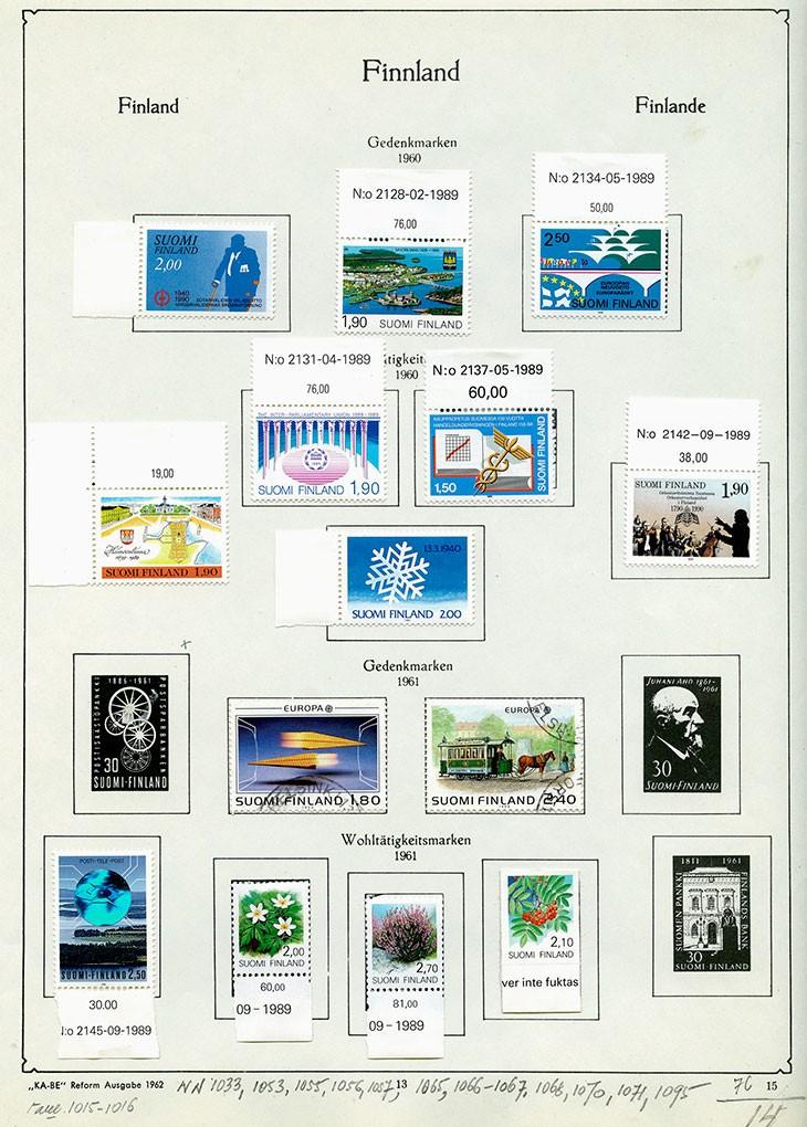 Финляндия. Альбом марок 1901-1961. 78 листов. 1