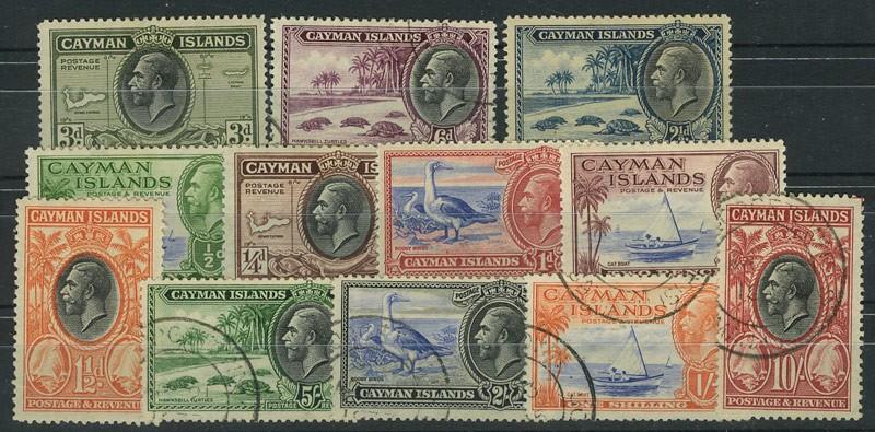 1935  Каймановы острова. Король Георг V и местные мотивы. [imp-1023] 1