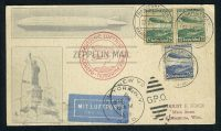 1936. Zeppelin mail. Frankfurt - New York 16