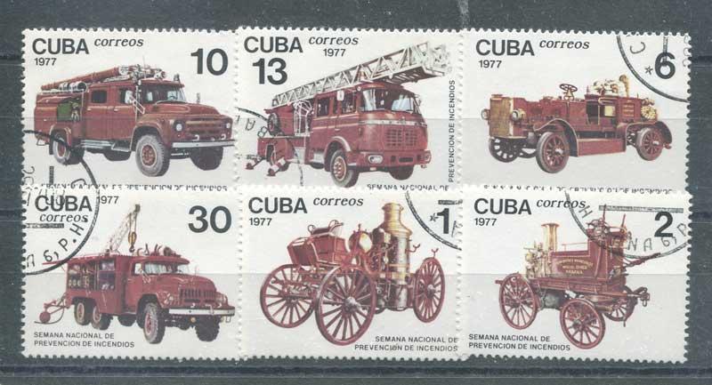 1977 Куба. Неделя по противопожарной профилактике - Противопожарная техника [imp-9481] 1