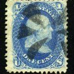 1861. США. Бенджамин Франклин, (•) [imp-9364] 2