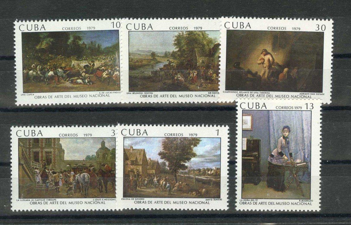 1979 Куба. Картины Национального музея 1979 года [imp-10294] 1
