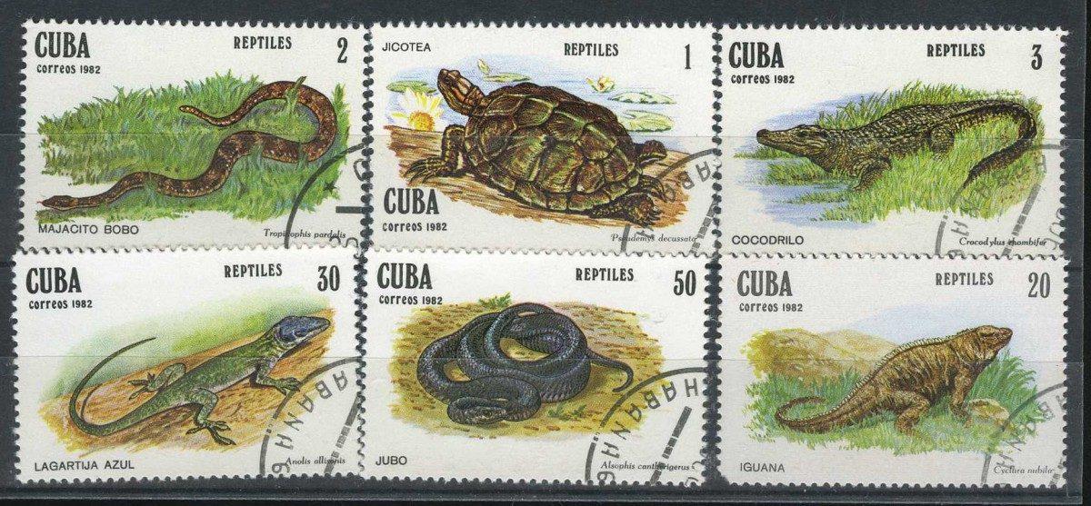 1982 Куба. Рептилии [imp-10324] 1