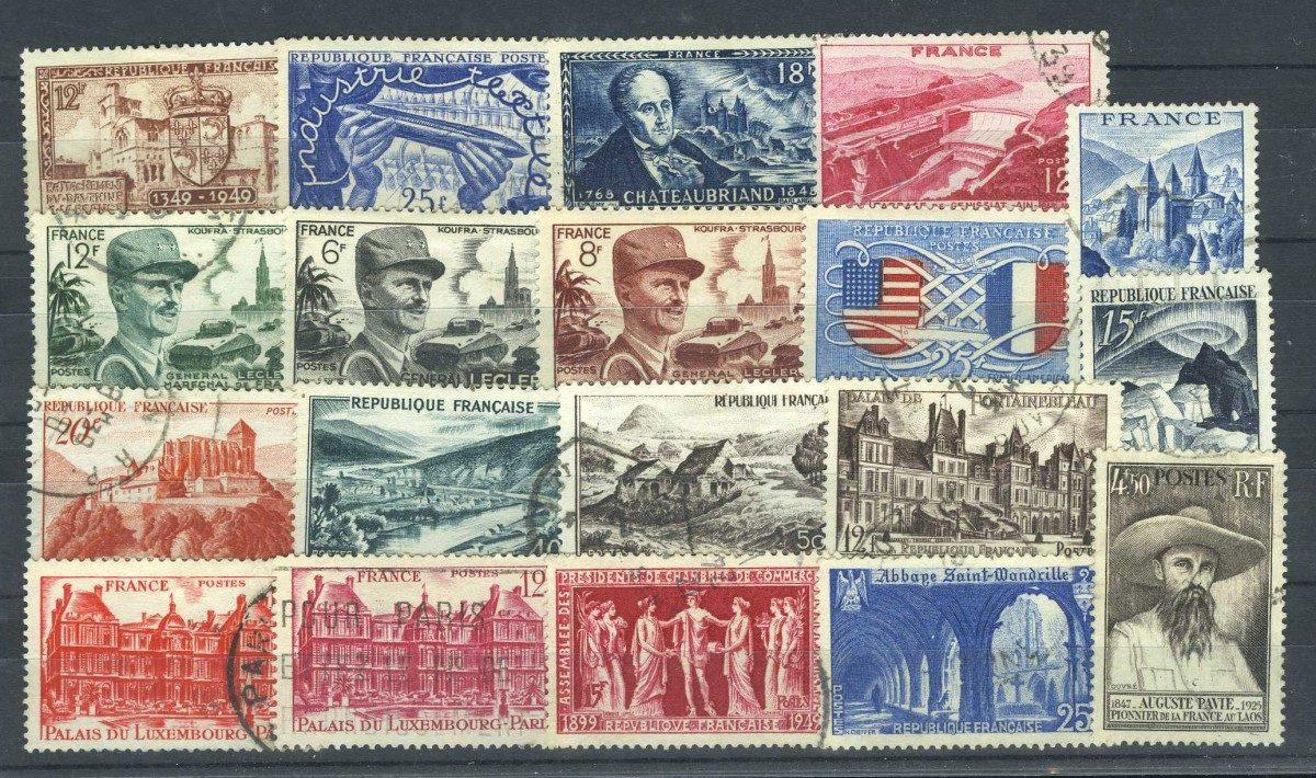 Франция. Набор марок (19 шт.) [imp-10443] 1