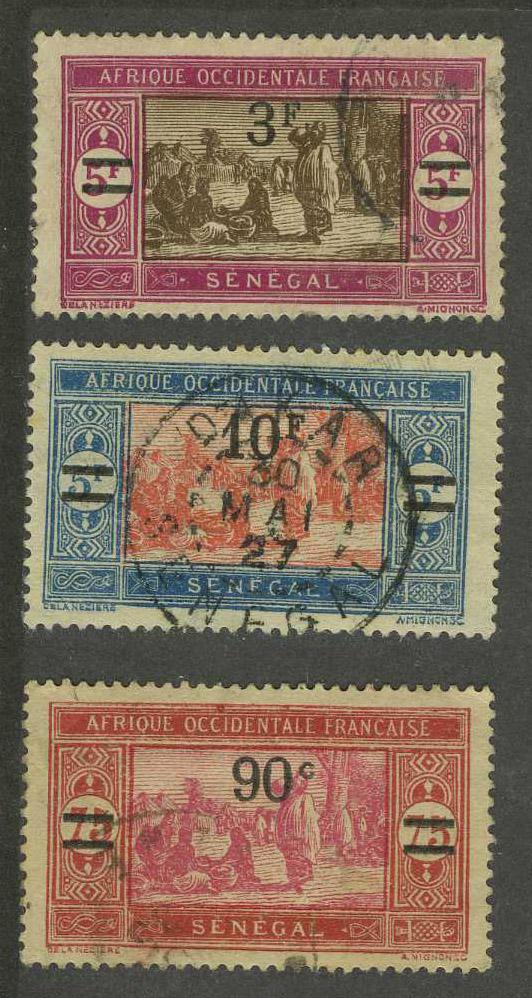 Сенегал (Французская колония) (3 шт.) [imp-10453] 1