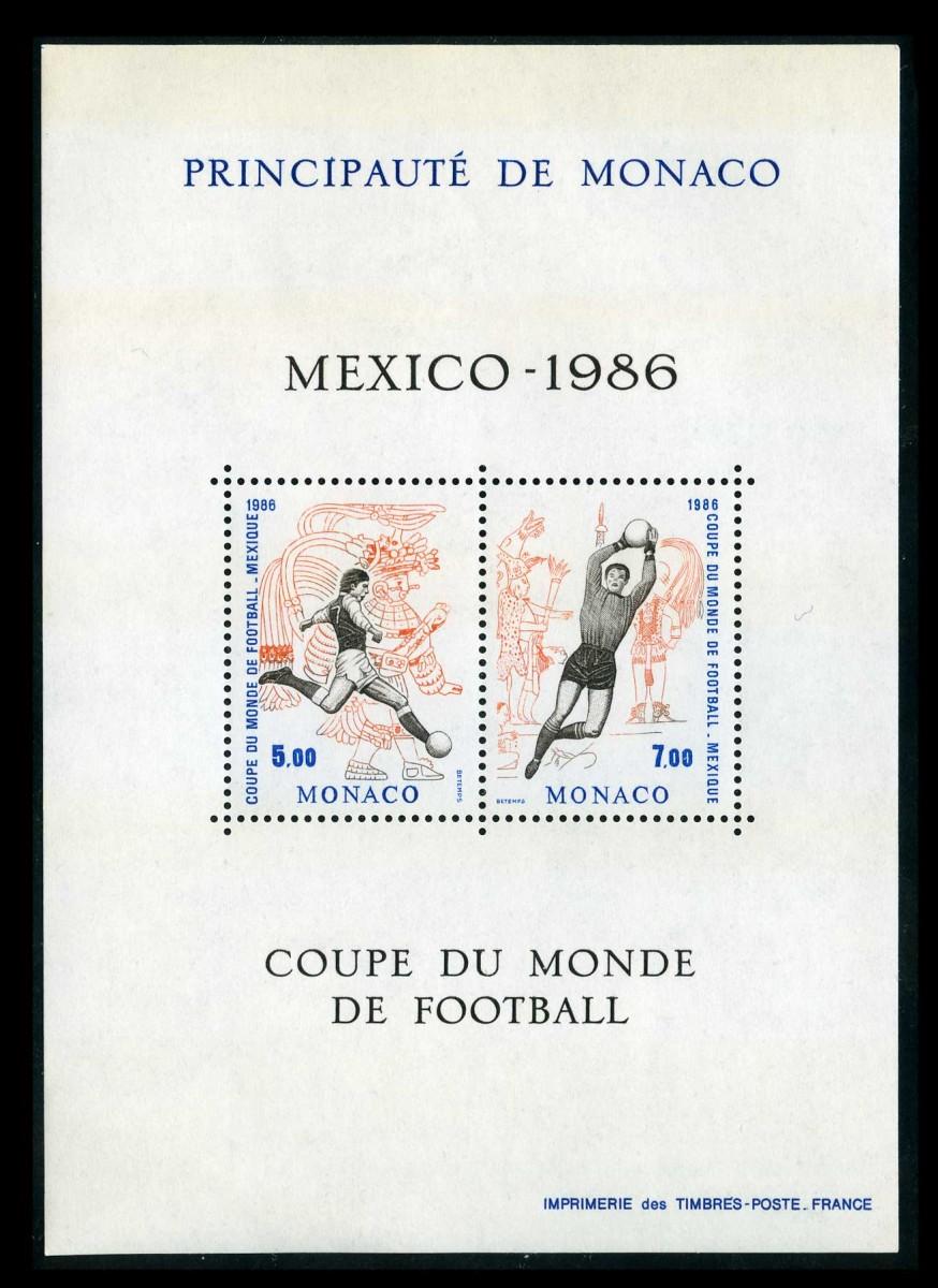 1986. Монако. Чемпионат мира по футболу 1986 года - Мексика
