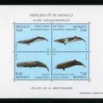 """Монако. Серия марок """"Средиземноморские киты"""""""