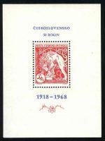 1968. Чехословакия. Блок. [imp-11252] 14