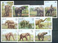 """1965. Лаос, Вьетнам. Набор """"Слоны"""". 10 шт. (•) [imp-11393] 27"""