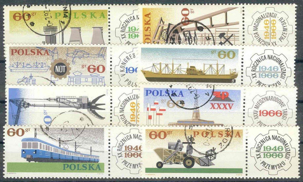 1966. Польша / Polska. 20 лет Восстановления промышленности. (•) [imp-11398] 1