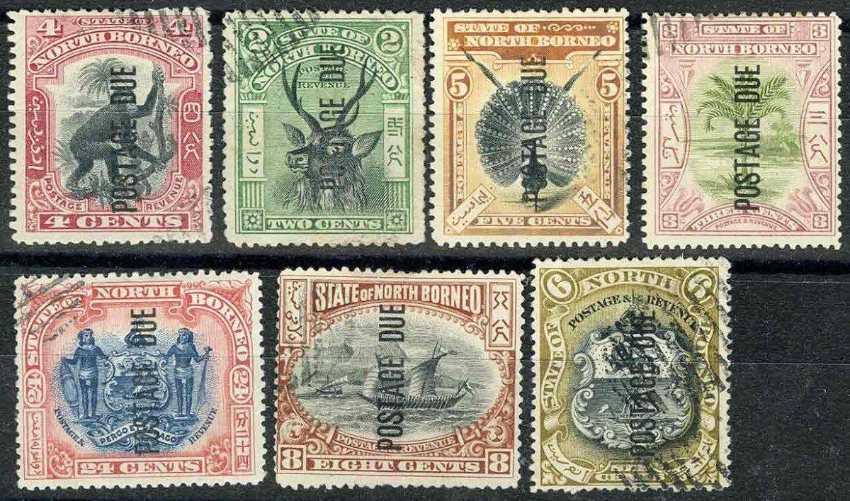 1901. Северное Борнео / North Borneo. 7 шт. [imp-11463] 1
