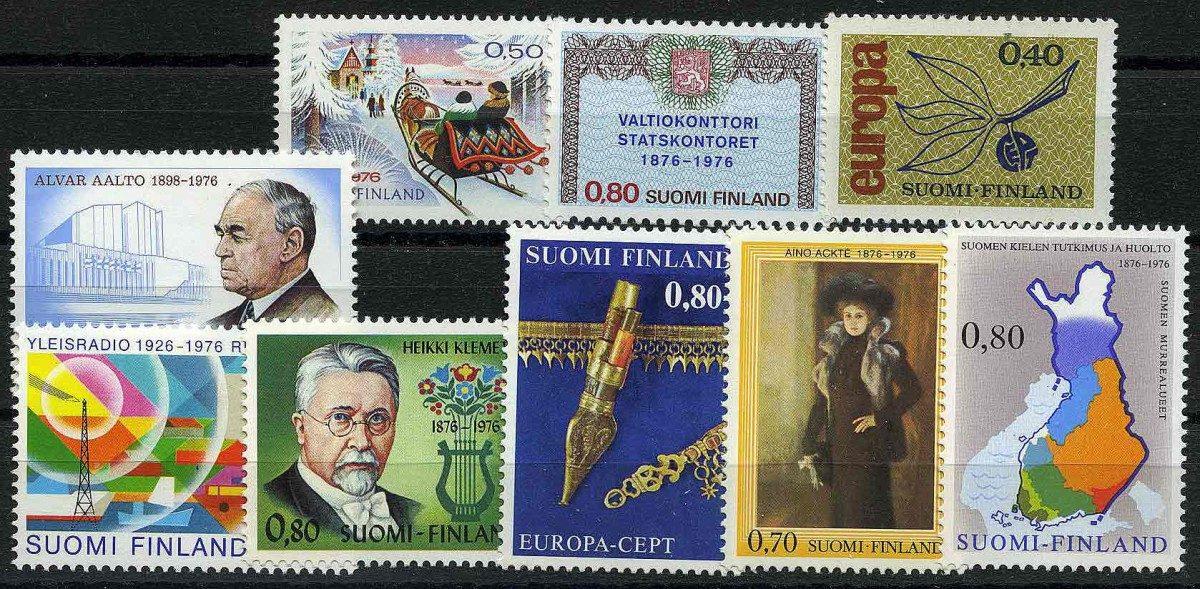 1976. Финляндия / Suomi. 9 шт. ** [imp-11492] 1