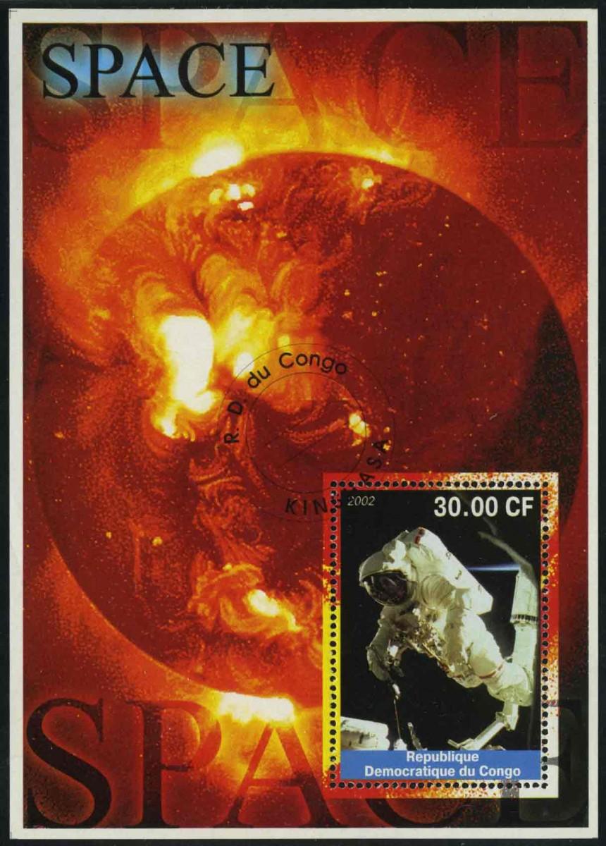 """2002. Конго / Congo. Блок """"SPACE"""". (//) [imp-11521] 1"""