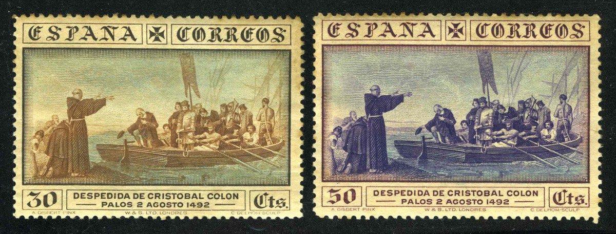 1930. Испания / Espana. DESPEDIDA DE CRISTOBAL COLON_PALOS 2 AGOSTO 1492. *II [imp-11562] 1