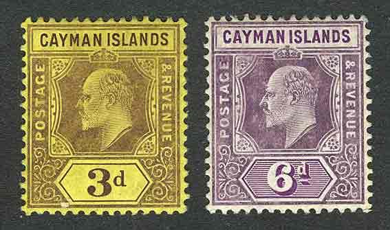 1907-1909. Каймановы острова. Король Эдуард VII - Новый дизайн [imp-11587] 1