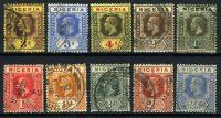 """1921-1927. Нигерия / Nigeria. Набор """"Монархи"""", 10 шт. (•) [imp-11611] 4"""