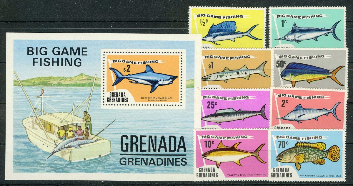 "1975. Гренада / Grenada. Набор ""BIG GAME FISHING"". * [imp-11622] 1"