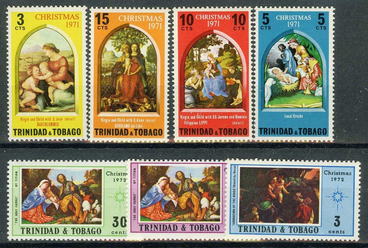 "Тринидад и Тобаго / Trinidad and Tobago. Набор ""CHRISTMAS"", 7 шт. * [imp-11626] 1"