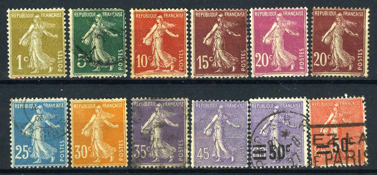 """1903-1937. Франция / France. Набор """"SEMEUSE CROIX ROUGE"""". */(•) [imp-11664] 1"""
