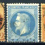 """1862-1871. Франция / France. Набор """"Emperor Napoléon III"""" (•) [imp-11681] 3"""