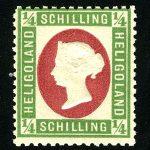 """1874. Германия / Helgoland. """"Королева Виктория - Портрет на Белой площади"""" ** [imp-11683] 2"""