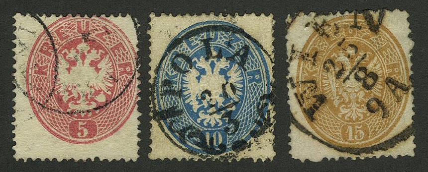 """1863. Австрия/ Österreich. Набор """"Coat of Arms -- Kreuzer"""" (•) [imp-11690] 1"""