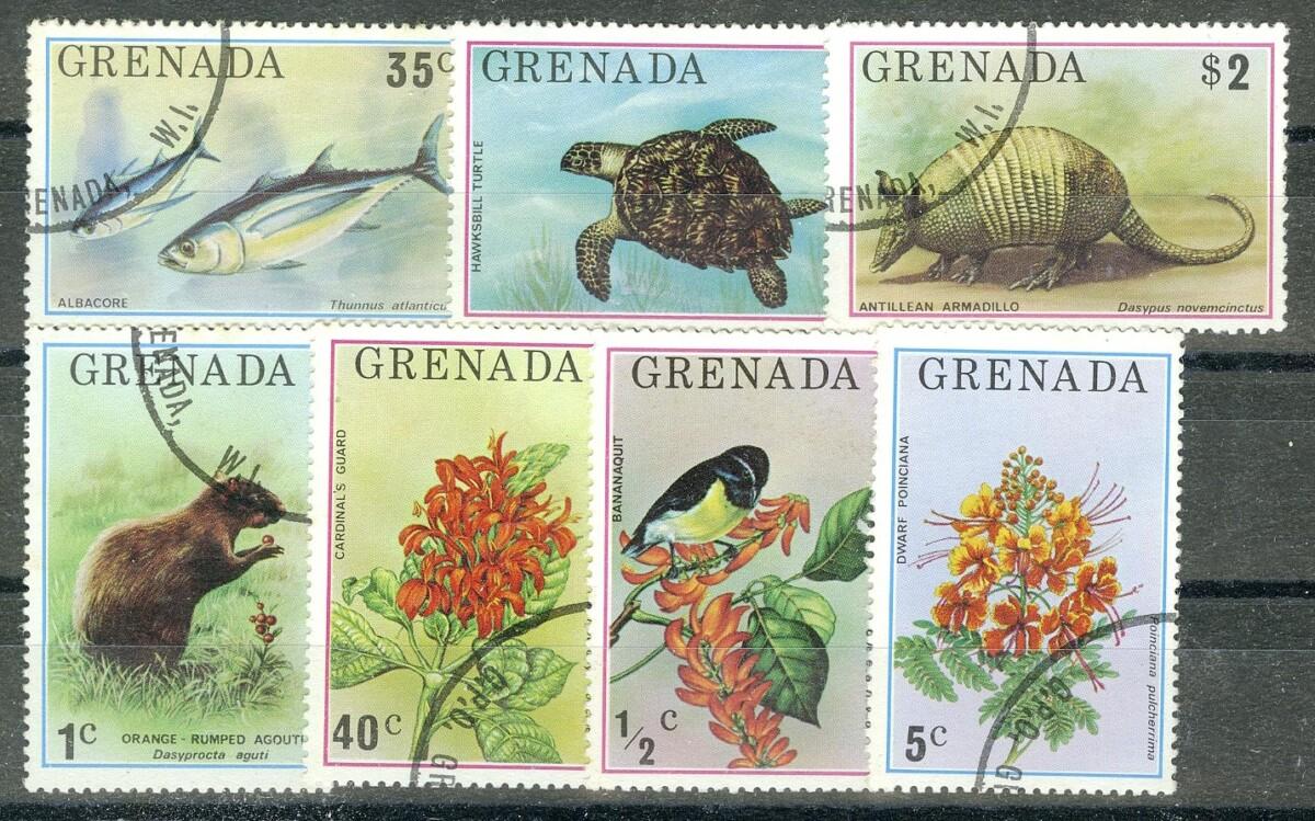 """1975. Гренада / Grenada. Набор """"Фауна, флора"""". (•) [imp-11736] 1"""