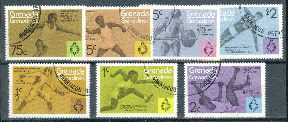 "1975. Гренада / Grenada. Набор ""PAN AMERICAN GAMES. MEXICO CITY"". (//) [imp-11738] 1"