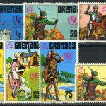 """1975. Гренада / Grenada. Набор """"200-летие американской революции"""".  ** [imp-11752] 3"""