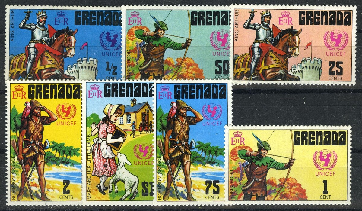 "1972. Гренада / Grenada. Набор ""ЮНИСЕФ -- Литература"".  * [imp-11751] 1"