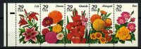 "1994. США / USA. Набор ""Garden Flowers Booklet Issue"", сцепка, ** [imp-11840] 3"