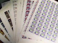 1992. Годовой набор художественных марок в листах 25