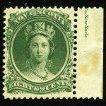 "1860. Новая Шотландия / Nova Scotia. ""Queen Victoria"", *I [imp-11879_gt] 2"