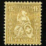 "1855. Швейцария. ""Helvetia"", (•) [imp-11891_gt] 4"