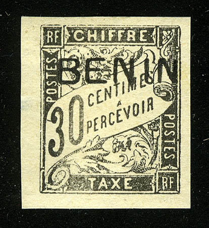 "1894. Бенин. ""French colonies - BENIN"", * [imp-11896_gt] 1"