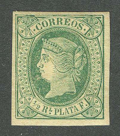 """1864. Куба. """"Queen Isabella II of Spain"""", * [imp-11930] 1"""