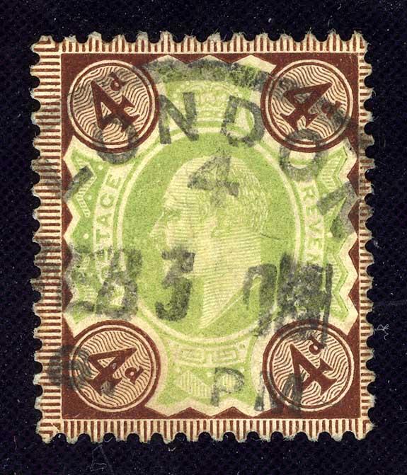 "1902. Великобритания. ""King Edward VII"", (•)I [imp-11964] 1"