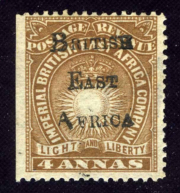"""1895. Британская Восточная Африка. """"Light and Liberty Issue Overprinted """"BRITISH - EAST - AFRICA"""""""", *II [imp-11983] 1"""