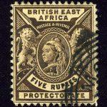"""1897. Британская Восточная Африка. """"Zanzibar Postage Stamps Overprinted"""", (•)II [imp-11988] 3"""