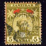 """1896. Британская Восточная Африка. """"Queen Victoria"""", (•)II [imp-11987] 2"""
