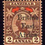 """1897. Британская Восточная Африка. """"Zanzibar Postage Stamps Overprinted"""", *II [imp-11993] 5"""