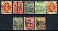 "1885-89. Британский Бечуаналенд. ""Overprinted ""BRITISH - BECHUANALAND"", 8 м., */(•) [imp-11996] 12"