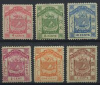 "1886. Северное Борнео. ""BRITISH NORTH BORNEO"" & ""POSTAGE & REVENUE"", 6 м., *II [imp-13014_gt] 6"