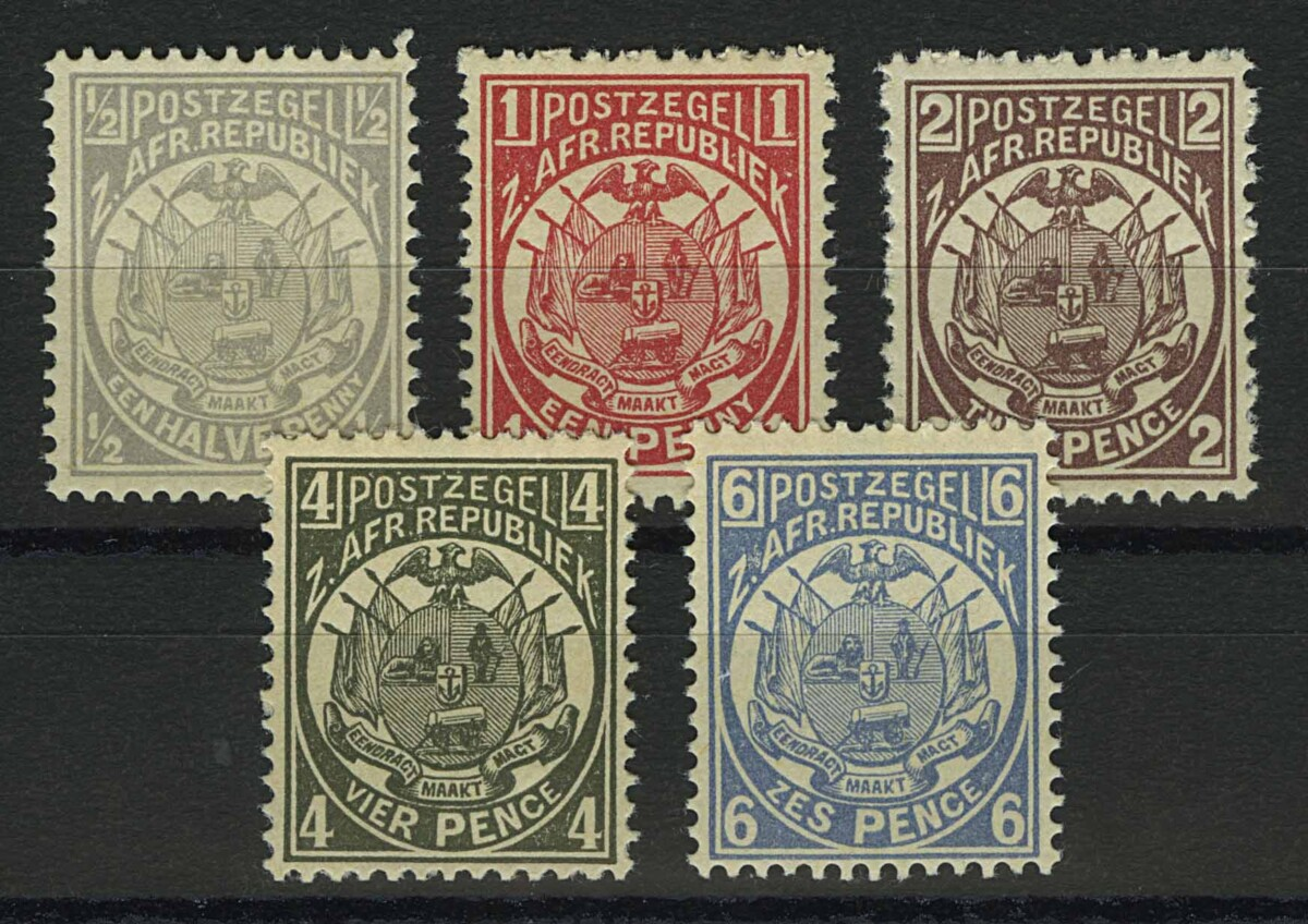 "1885. Трансвааль. Южно-Африканская Республика. ""South African Republic Postage Stamps"", 5 м. **I [imp-13022_gt] 1"