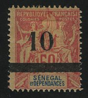 "1903. Сенегал. ""Navigation & Commerce - Inscription: ""SENEGAL DÉPENDANCES"". *I [imp-13028_gt] 1"